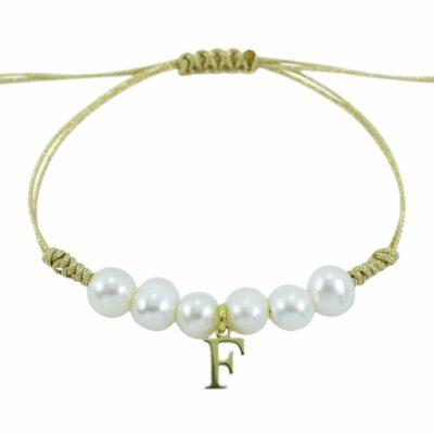 Perlas personalizada con inicial